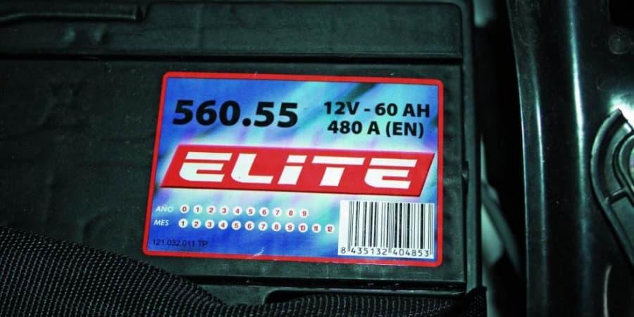 Especificaciones de una batería